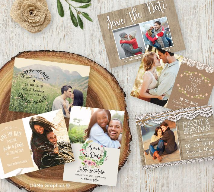 Rustic save the date cards, digital save the date cards, printable save the date cards   U&Me Graphics