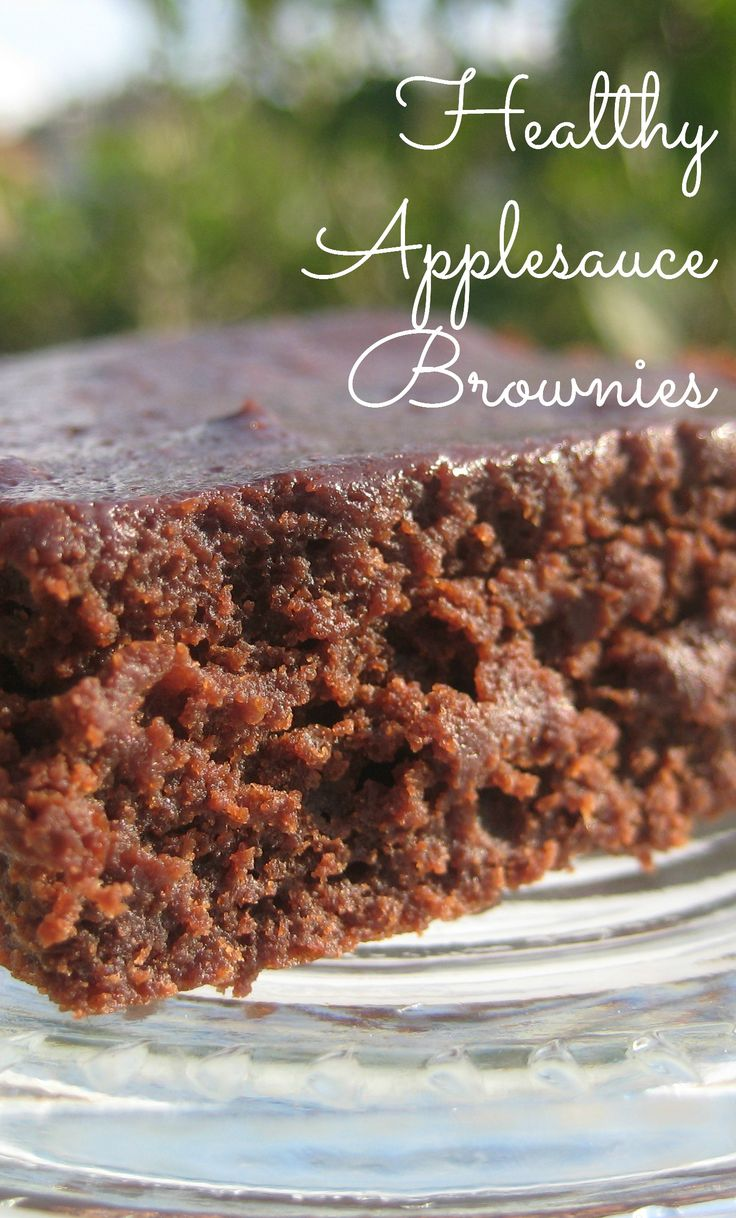 Healthy Applesauce Brownies are delicious and good for you!  They use applesauce instead of butter.  Try this recipe, you'll like it!