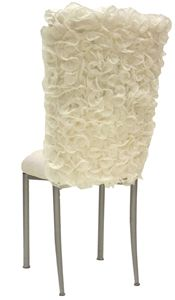 Wildflower Linen - CHAIR COVERS - isabella ivoryChair Covers, Isabella Ivory, Ivory Chameleons, Dining Chairs, Chameleons Brides, Ruffles Chairs, Chairs Covers, Wildflowers Linens, Brides Chairs
