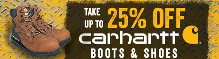 When your boots are worn out replace them with the best.  For a limited time take up to 25% off select Carhartt Boots and Shoes.    #Carhartt #WorkBoots #WorkShoes #WorkingPerson  http://workingperson.com/lp/carhartt-footwear-sale-june-2017.html?utm_medium=social&utm_source=PinterestCarharttBootsSale6/13