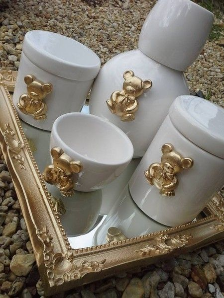 Kit de Higiene Porcelana Ursinho