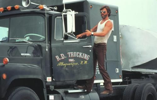 Kris Kristofferson as Rubber Duck in...Convoy. I think everyone wanted Rubber Duck for their CB handle after this movie came out.