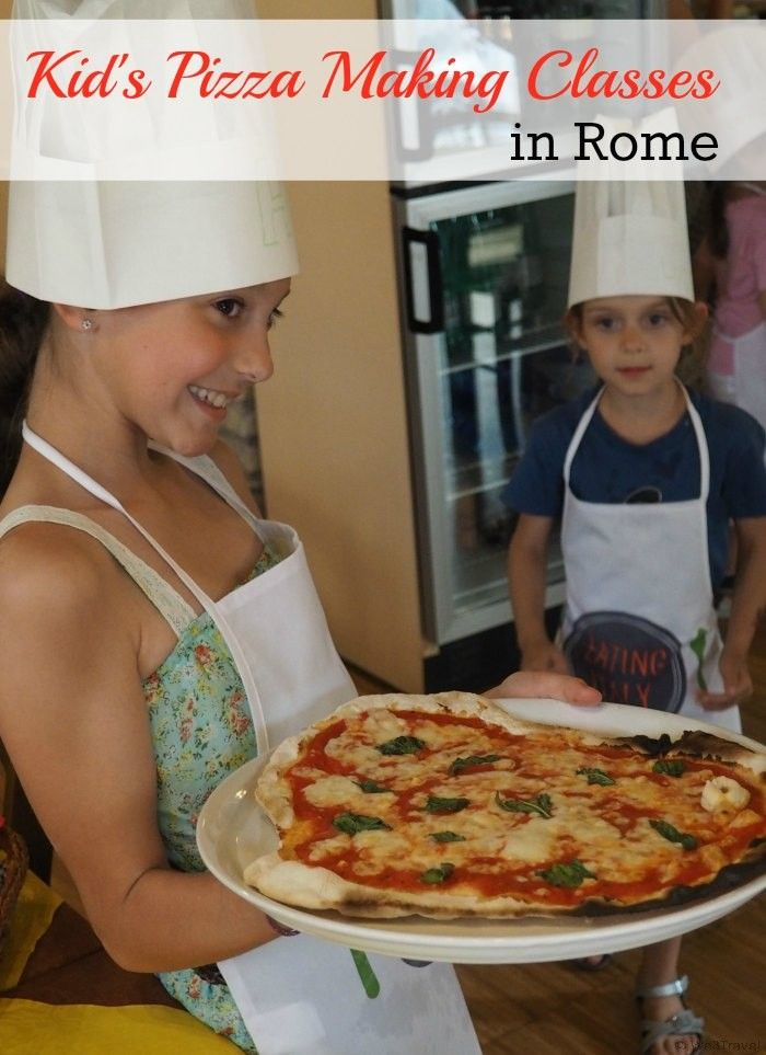 Kid's pizza making classes in Rome