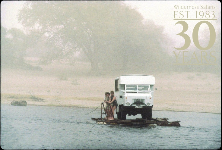 Crossing the Boteti, an iconic image from our earliest years in Botswana - in celebration of our 30th birthday!