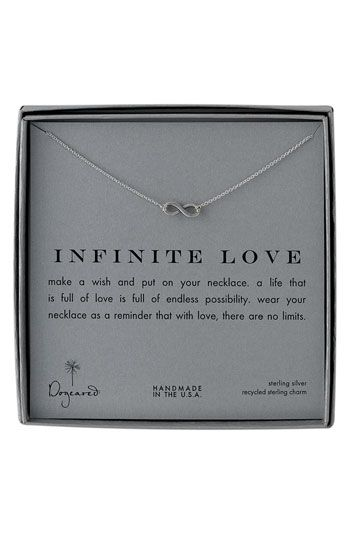 Great bridal party gift: Dogeared 'Infinite Love' Reminder Pendant Necklace | #Nordstrom