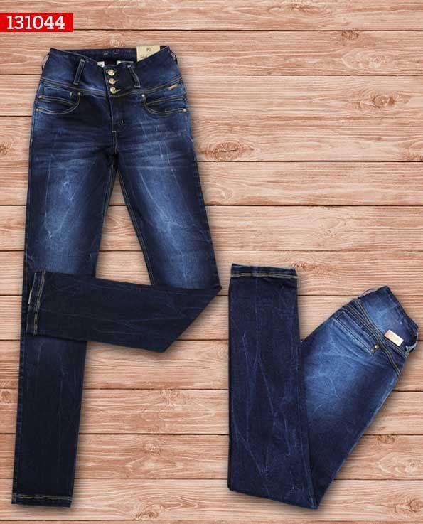 jeans-dama-color-azul -bota-recta-ref-131044-1 #fashion #women #ropademoda