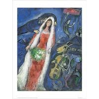 La Mariee By Marc Chagall: Category: Art Currency: GBP Price: GBP36.00 Retail Price: 36.00 La Mariee features a young woman in her vivid…