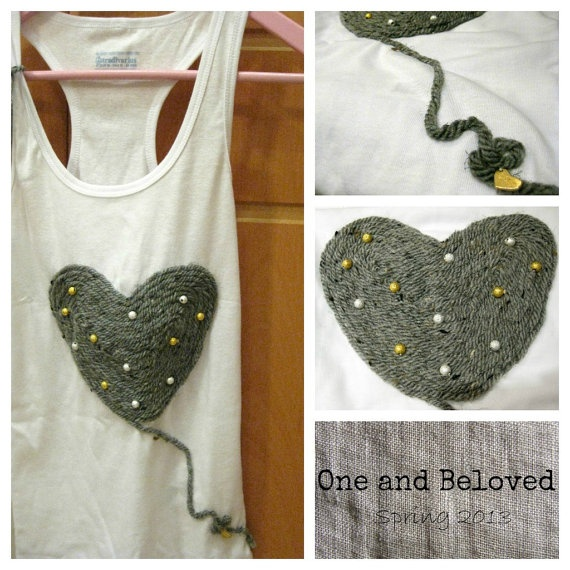 Unique Handmade TShirt by OneandBeloved on Etsy, €15.00
