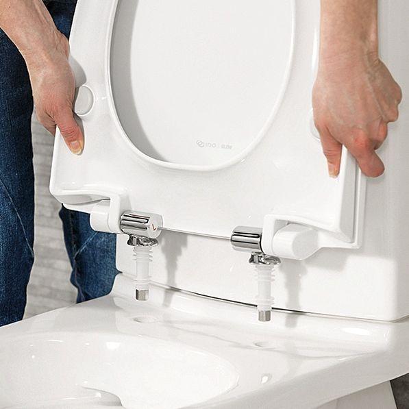 Kaikkiin IDOn wc-istuimiin on saatavilla kätevä Quick Release -toiminto. Sen ansiosta istuinkansi on todella helppo irrottaa puhdistamisen ajaksi.