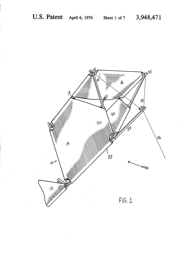 Patent US3948471 - Modular kite system - Google Patents