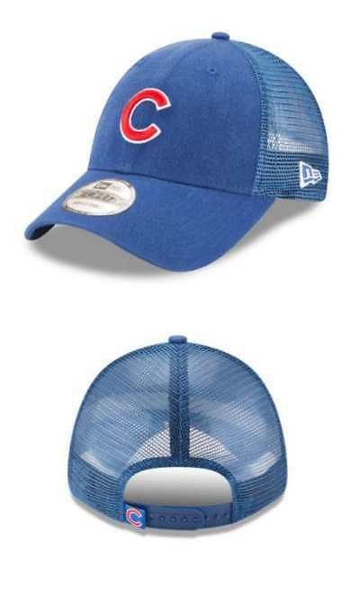 f0ca0b9c0a7 Hats and Headwear 159057  New Era Mlb Chicago Cubs Trucker 9Forty  Adjustable Baseball Hat 940