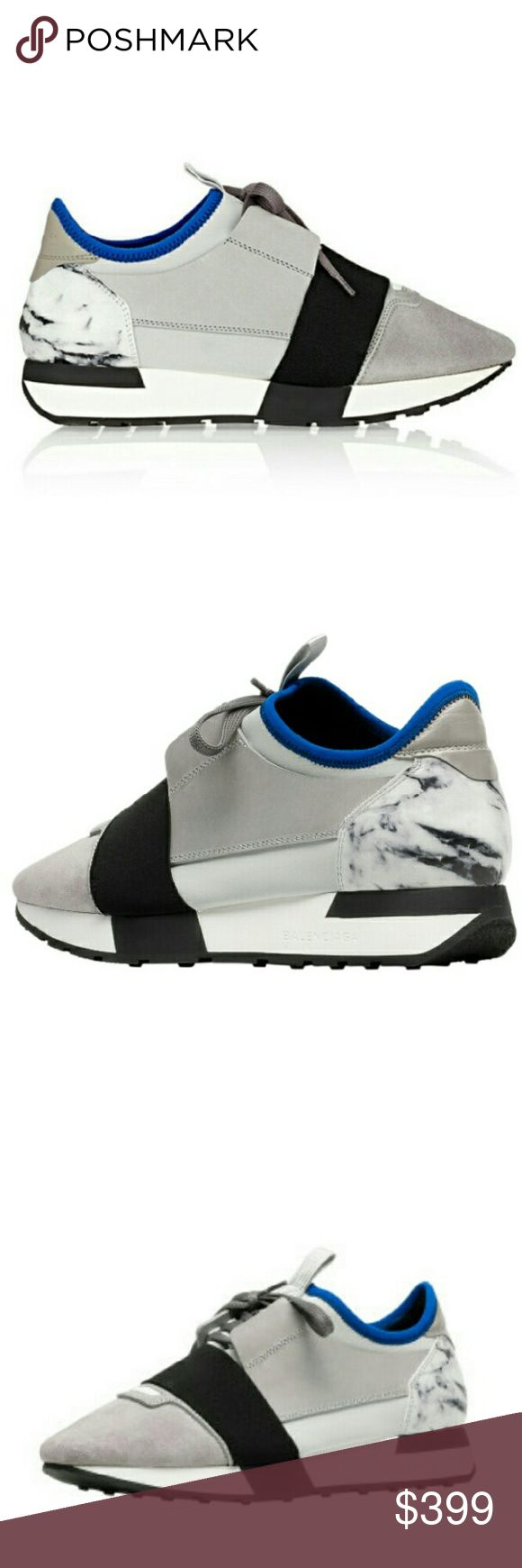 SALE!!! Balenciaga race runner marble sneaker Balenciaga race runner sneaker in marble. New, with tag. Blue/gray/cream/black. Authenticity guaranteed or money back. No pp, no trades Balenciaga Shoes Sneakers