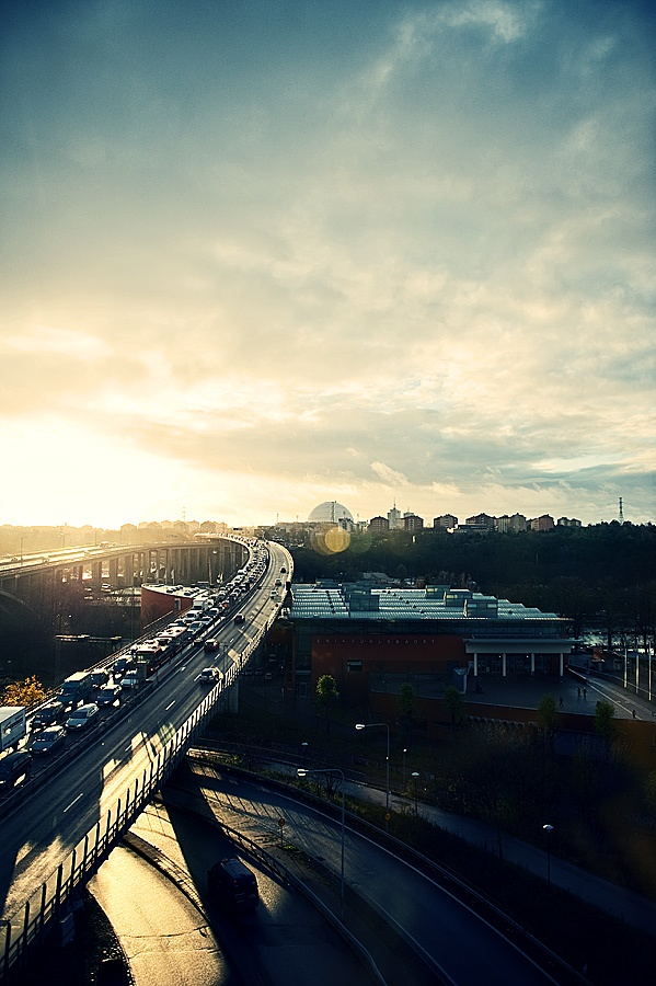 Stockholm morning traffic