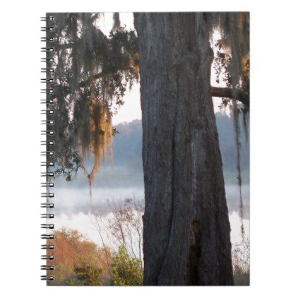 Sunrise over a small lake in the South Notebook - oak gifts tree leaves style nature gift idea cyo