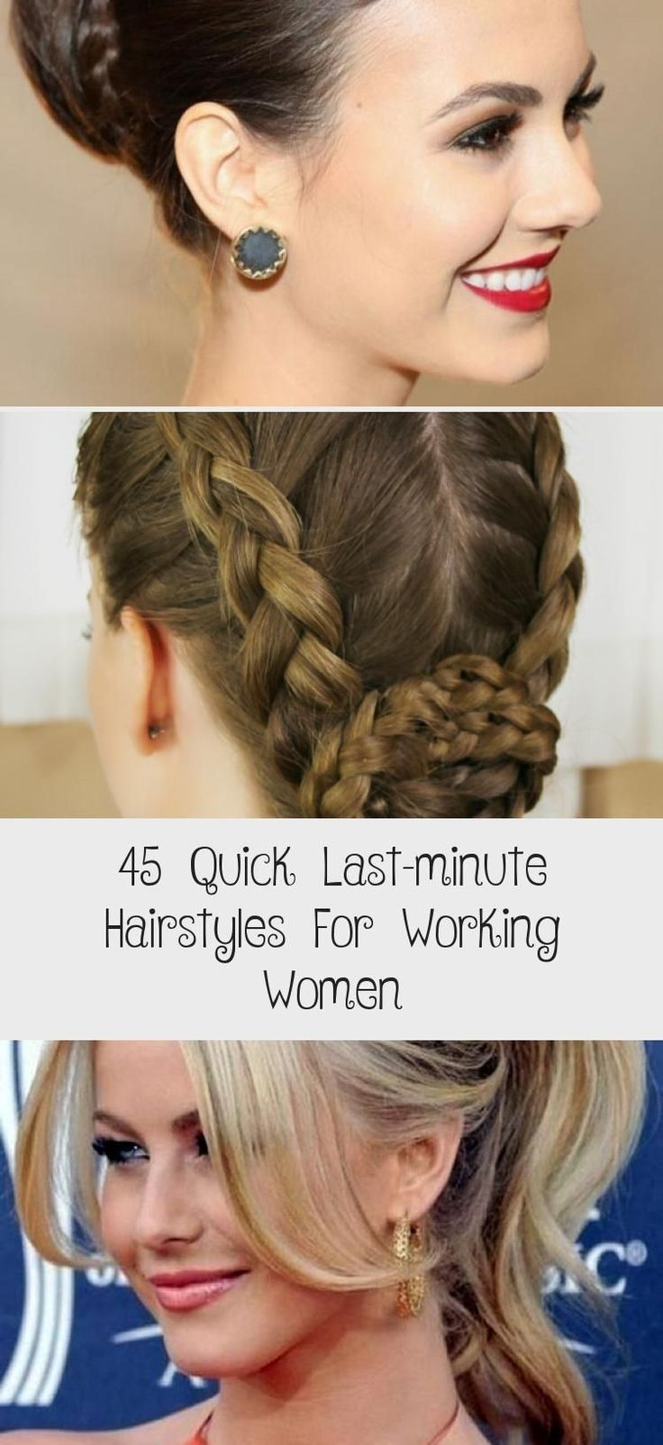 45 Quick Last minute Hairstyles For Working Women ...