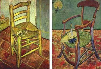 "Van Gogh "" La sedia di Vincent e la sua pipa"" 1888"
