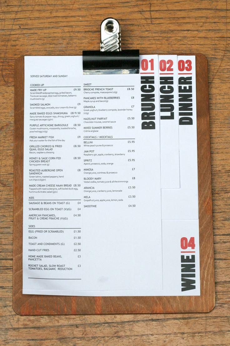 MADE Bar Kitchen 620x934 20 Impressive Restaurant Menu Designs More