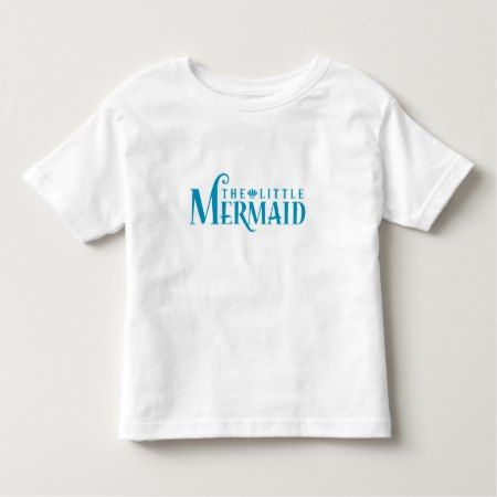 The Little Mermaid Blue Logo Disney Toddler T-shirt - tap, personalize, buy right now!