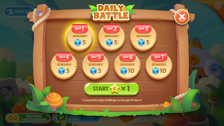 Carrot Defense. Game UI. PopUp design