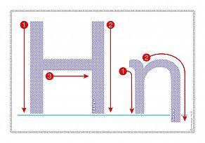 """Εκτύπωση φύλλου δραστηριότηρας με θέμα """"Πώς γράφεται το γράμμα Η,η""""."""