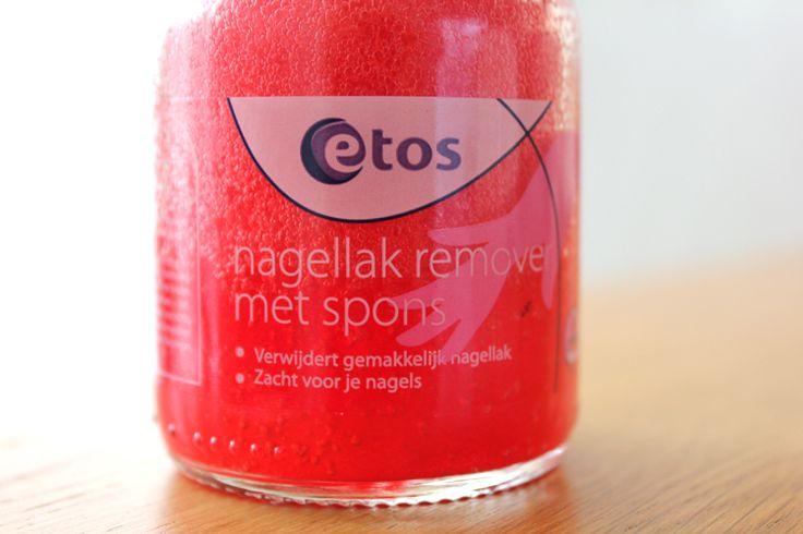 Etos Nagellak remover met spons