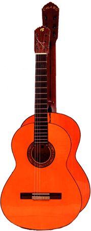 Ver Modelo Canastera I (Rojiza): Guitarra Flamenca del Constructor Francisco Bros, en el Blog de guitarra Artesana