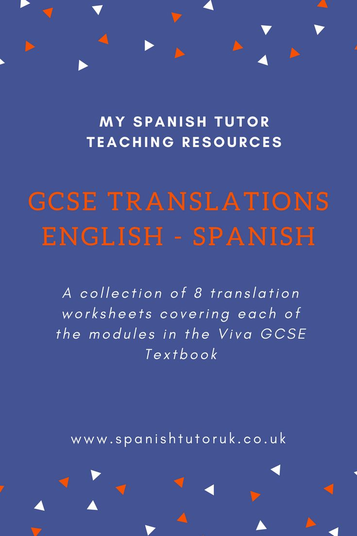 The 25 best translate to spanish ideas on pinterest translate gcse translations english to spanish fandeluxe Image collections