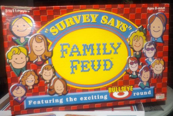 Vintage c.1998 Family Feud board game published by Endless