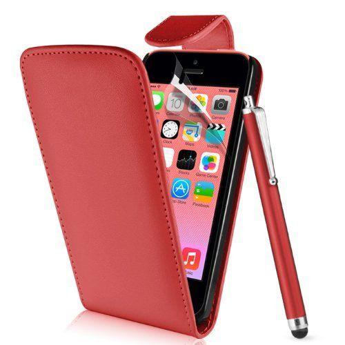 Supergets-Funda para Apple iPhone 5C/5C Funda de imitación piel funda carcasa Tapa Flip Case, Con Protector De Pantalla, Lápiz capacitivo - http://www.tiendasmoviles.net/2016/08/supergets-funda-para-apple-iphone-5-c5-c-funda-de-imitacion-piel-funda-carcasa-tapa-flip-case-con-protector-de-pantalla-lapiz-capacitivo/