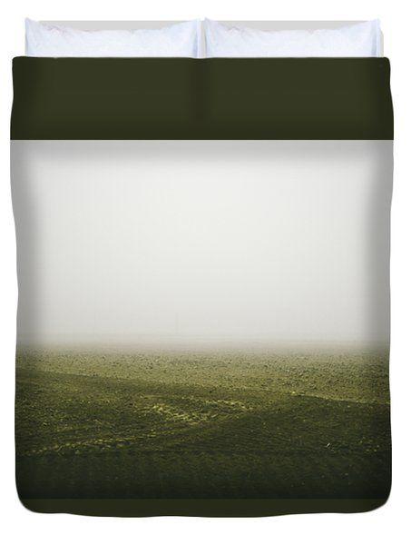Foggy Autumn Morning Duvet Cover by Cesare Bargiggia