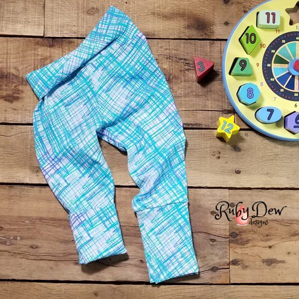 Scribble Blues Grow With Me Pants Size 3 Mos 12 Baby By