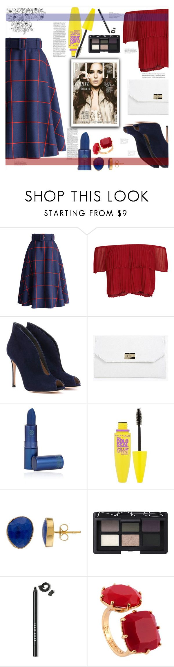 """""""Untitled #196"""" by soranamikaze on Polyvore featuring Chicwish, Keepsake the Label, Gianvito Rossi, Boohoo, Lipstick Queen, Maybelline, NARS Cosmetics, Bobbi Brown Cosmetics and Les Néréides"""