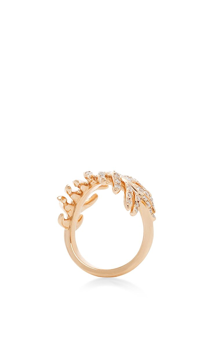 Phoenix Rose Gold Diamond Ring by Mimi So for Preorder on Moda Operandi