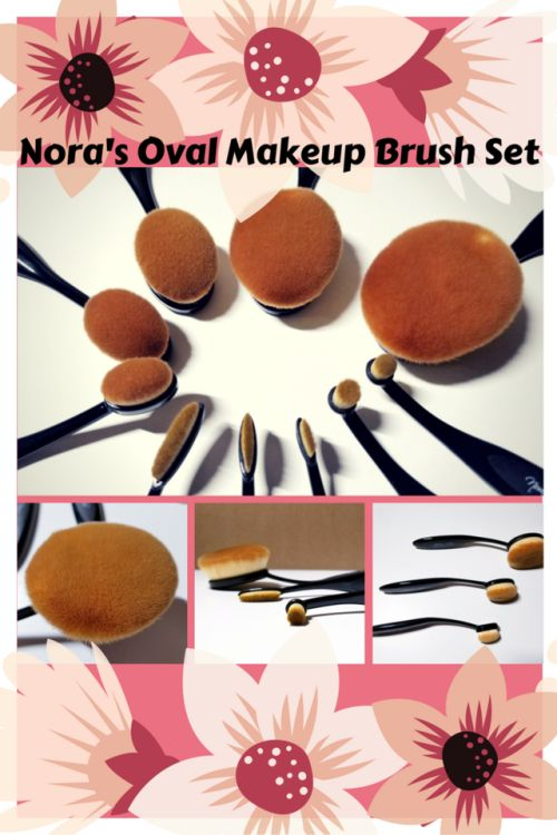 Nora's Oval Makeup Brush Set: Smooth, High-Density, Gorgeous!Being the amateur that I am, I really don't ask for much when it comes to makeup brushes. My wishlist is basically this:  • Affordable: I don't want to pay an arm and a leg for a set I will...