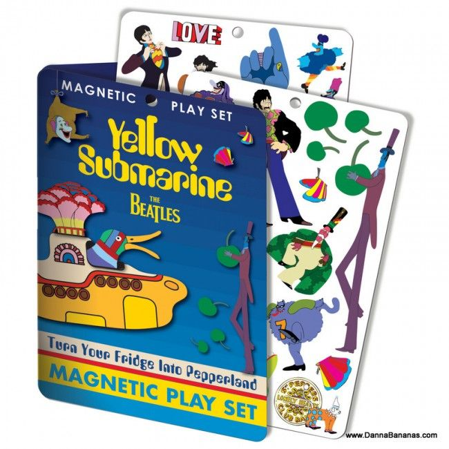 The Beatles Yellow Submarine Magnetic Play Set: http://www.dannabananas.com/yellow-submarine-magnetic-set/