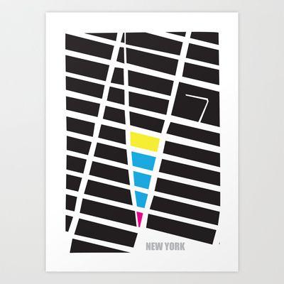 City Map New York Art Print