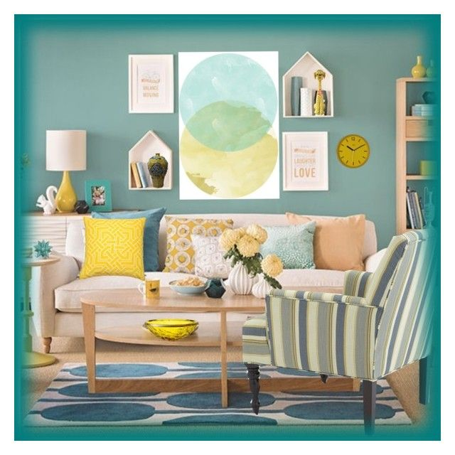 """Teal And Yellow Room"" by chileez ❤ liked on Polyvore featuring interior, interiors, interior design, home, home decor, interior decorating, Nina Kullberg, Wild & Wolf, Kartell and Emissary"