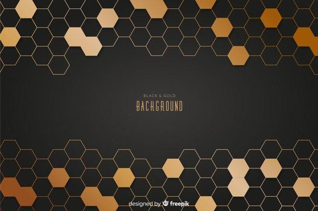 Black And Gold Background Gold Background Background Design Vector Geometric Background