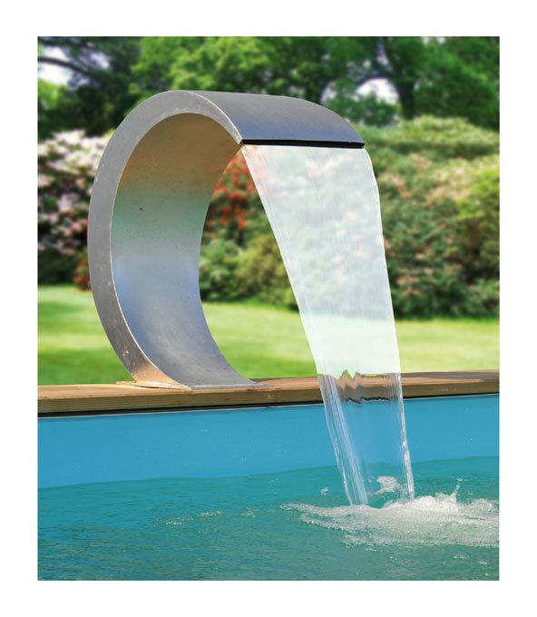 Cascade De Piscine Mamba Led En Acrylique Transparent Ubbink Cascade Piscine Fontaine De Piscine Piscine Inox
