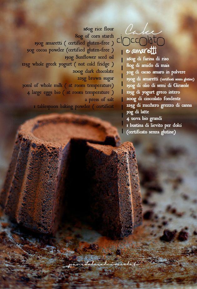 Torta al cioccolato e amaretti senza glutine - Chocolate cake Glutenfree