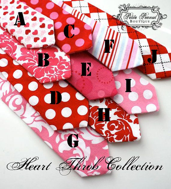 1795 valentines tie for little boys