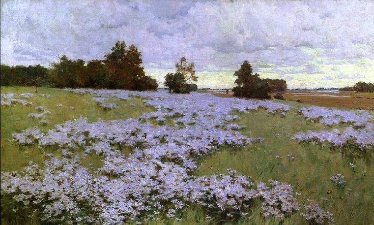 Frost Flowers Ipswich Massachusetts 1889 painting Arthur Wesley Dow | Oil Painting Reproduction