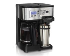Hamilton Beach 2-Way FlexBrew® Coffeemaker (49983).  This is going to be a must have!