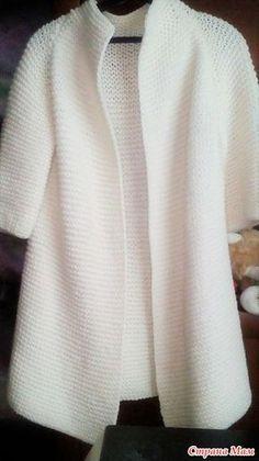 Вязанное пальто спицами - Вязание - Страна Мам