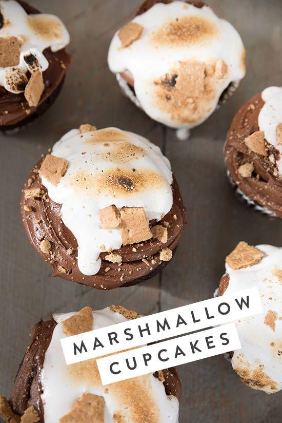 marshmallow cupcakes   designlovefest