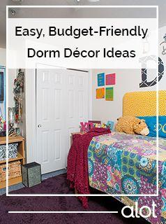 Budget-friendly dorm room decor ideas.