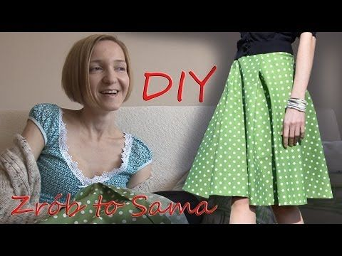 Zrób to sama. Jak uszyć spódnicę z koła. DIY How to make a circle skirt - Yout Tube
