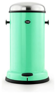 $319.00 Wow, what a statement a trashcan can make! This mint hue is super hot right now, and sure to make you smile every time you press the smooth-as-butter pedal.