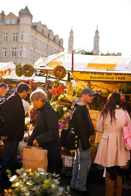 Market Square,Cambridge England - Market Day was every day in Cambridge.  If I had nothing to do, that is where I would normally end up.