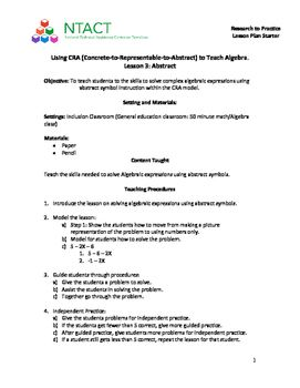 Best Ntact Lesson Plan Starters  Math Images On